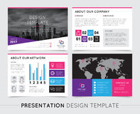 Company Presentation Templates. On grey background flat isolated vector illustration Royalty Free Stock Image