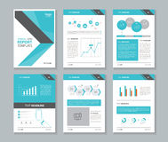 Company profile ,annual report , brochure , flyer, layout template, Royalty Free Stock Photo