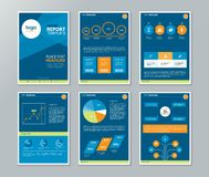 Company profile ,annual report , brochure , flyer, page layout template Stock Photos