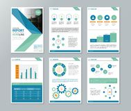 Company profile ,annual report , brochure , flyer, page layout template stock illustration