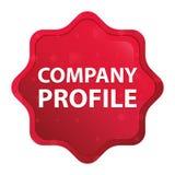Company Profile misty rose red starburst sticker button vector illustration