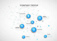 Company profile overview template Stock Photo