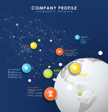Company profile overview template with colorful circles Royalty Free Stock Image