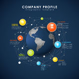 Company profile overview template Stock Photography