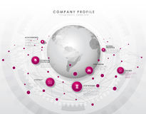 Company profile overview template Royalty Free Stock Photo