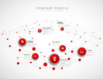Company profile overview template Royalty Free Stock Images