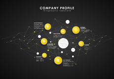 Company profile overview template Stock Image