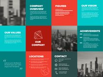 Company profile template. Corporation main information predentation Royalty Free Stock Photography