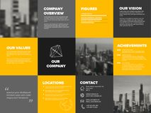Company profile template Royalty Free Stock Image