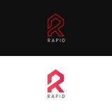 Company R letter logo icon sign vector design. R letter logo icon sign vector design Stock Photos