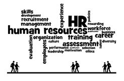 Company recruitment. Human resources doing recruitment for the company Royalty Free Stock Photos