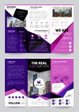 Company Report Flyer Templates. On grey background flat isolated vector illustration Stock Image