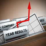 Company Results Improvement Royalty Free Stock Photo