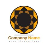 Company logo on white Stock Photo