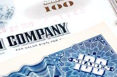 Company Shares. Company Stock Certificates Royalty Free Stock Image