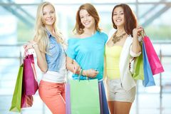 Company of shoppers Royalty Free Stock Photography