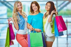 Company of shoppers Royalty Free Stock Image
