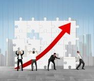 Company statistics royalty free stock image