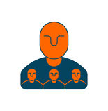 Company structure icon. Personnel management. Boss and subordina. Tes. Management sign. Business concept symbol Stock Images