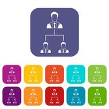 Company structure icons set Royalty Free Stock Photography