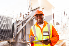 Company substation worker Stock Image