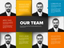 Free Company Team Presentation Template Stock Images - 213064784
