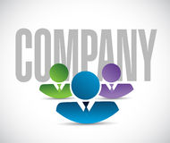 Company team sign illustration design graphic Royalty Free Stock Photography