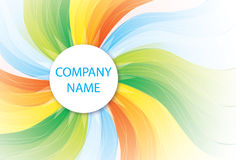 Company template with radiating spiral rays Stock Photos