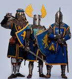 Company of three knights Royalty Free Stock Photos