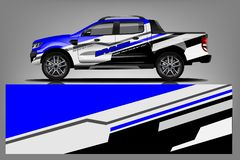 Company Truck wrap design. vector illustration