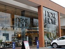 Next Home Store front in Staines Surrey Uk. The company was founded by Joseph Hepworth in Leeds in 1864,It has around 700 stores, of which 500 are in the United Royalty Free Stock Photo