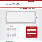 Company web layout Stock Images