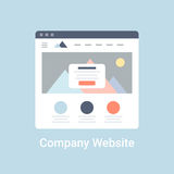 Company Website Wireframe Stock Photo