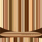 Company of wood. Business blank for company of wood royalty free illustration