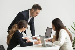 Free Company Workers Brainstorming During Board Meeting Stock Photography - 116831562