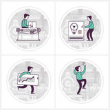 Company workflow. Manufacturing process Royalty Free Stock Images