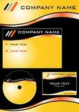 Company xtemplate 2.cdr. Templates for company identity vector illustration Stock Photo