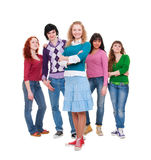 Company of young lively people Stock Image