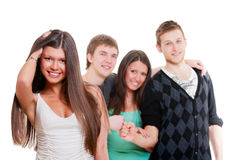 Company of young people Royalty Free Stock Image