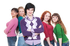 Company of young people Stock Photography