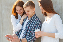 The company of young people having fun Stock Images