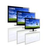 Comparación entre 3 TV Imágenes de archivo libres de regalías