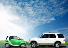 Comparaison de véhicules images stock