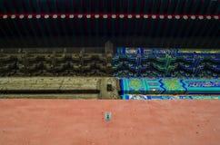 Comparaison du bâtiment chinois Images stock