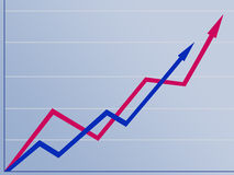 Comparando o crescimento Fotos de Stock