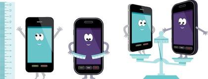 Comparative characteristics of phones. Stock Image