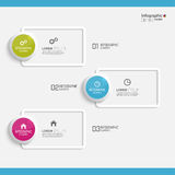 Comparative chart with templates for presentation Royalty Free Stock Photography