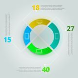 Comparative infographics for IT sphere Royalty Free Stock Photo