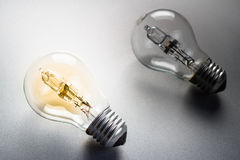 Comparative light bulb Stock Photography