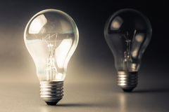 Comparative light bulb Royalty Free Stock Photo